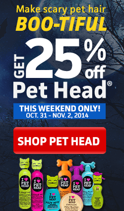Get 25% off Pet Head products this weekend at LVS