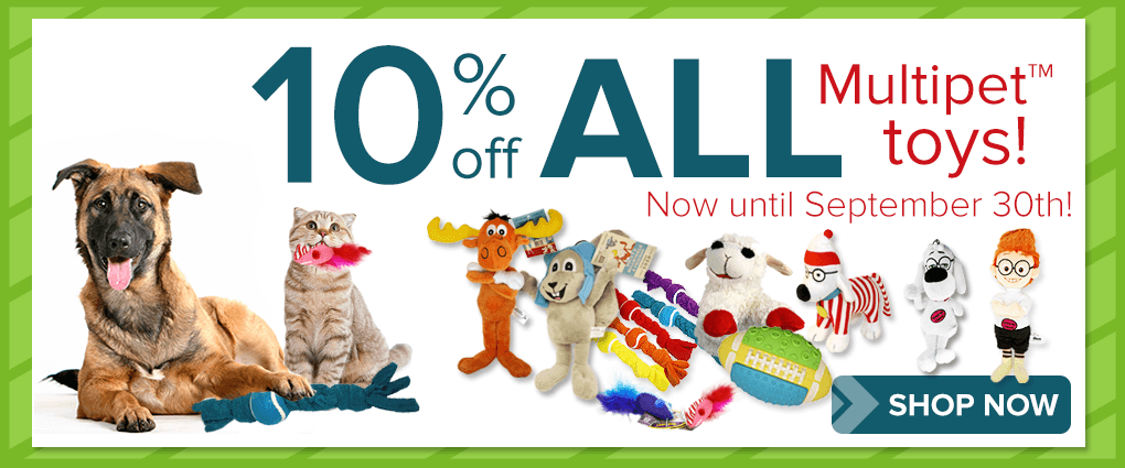 Save 10% on all Multipet toys!