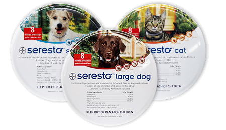 Seresto collars for cats and dogs