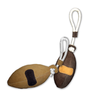 Shop Natural Water Buffalo Suede Football Toy