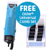Oster Turbo A5 2spd clipper w/ FREE 10pc Plastic Comb Set