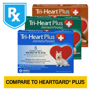 Shop Tri-Heart® Plus for Dogs Rx